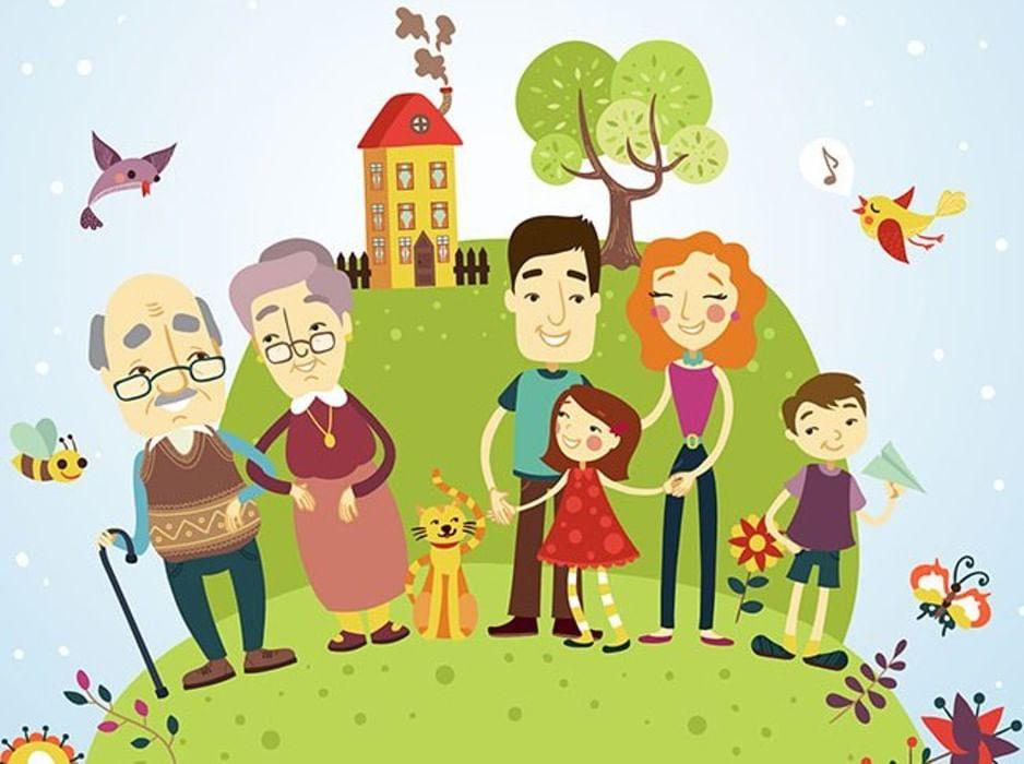 Открытки счастливой семьи