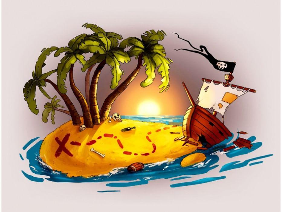 Картинка острова сокровищ для детей