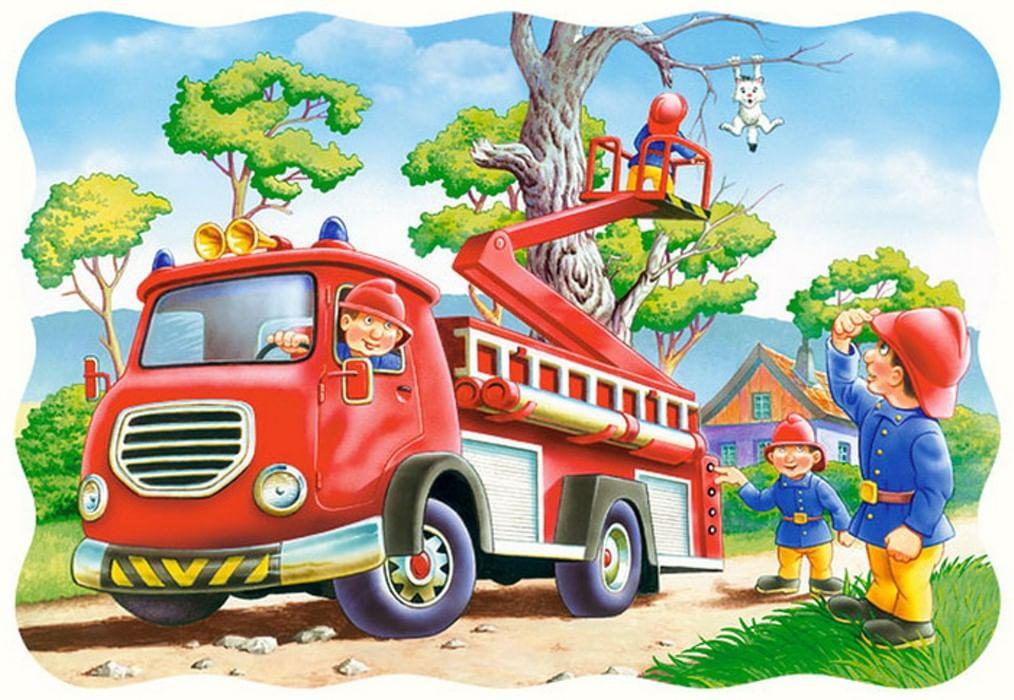 Открытки с пожарными автомобилями