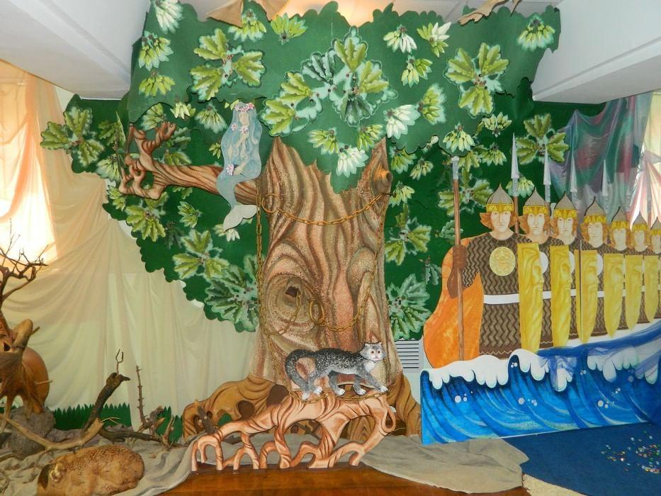 Декорация к спектаклю близ лукоморья картинки