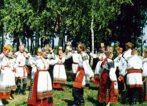 Традиционная пляска пересек в воронежско-белгородском пограничье