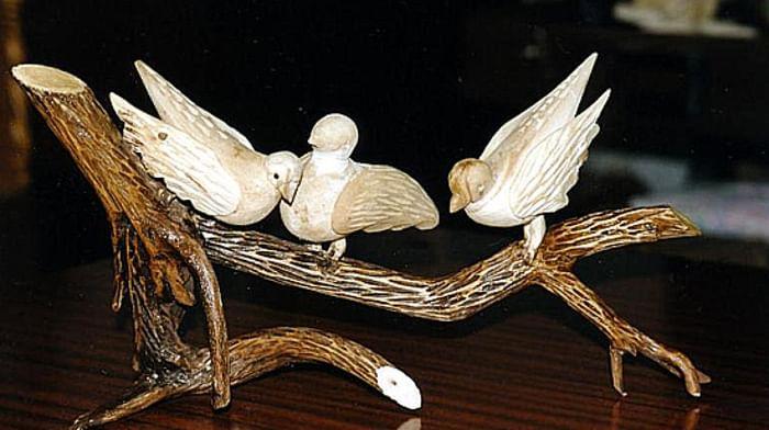 Народная деревянная скульптура мастера В.А. Елшенкова из города Гороховца Владимирской области