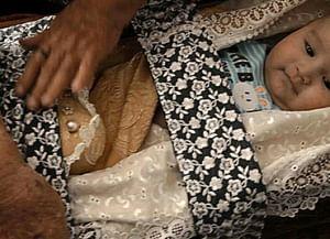 Обряд укладывания в колыбель у кубанских ногайцев