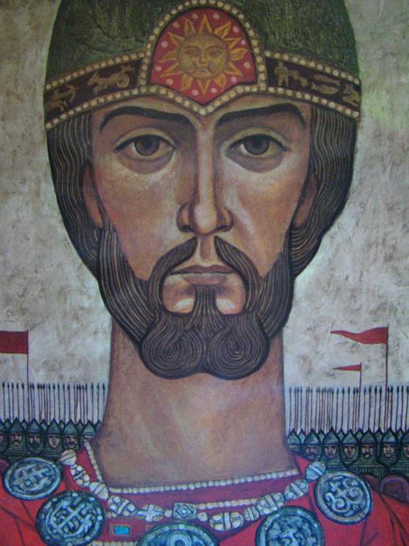 Владимир Семенов. Иллюстрация к книге  «Слово о полку Игореве». 1971