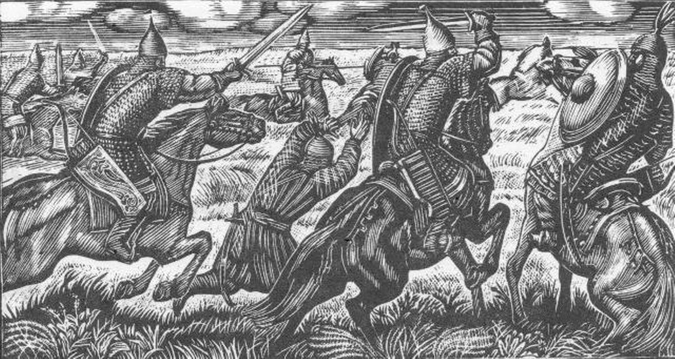 Владимир Фаворский. Иллюстрация к книге  «Слово о полку Игореве». 1952