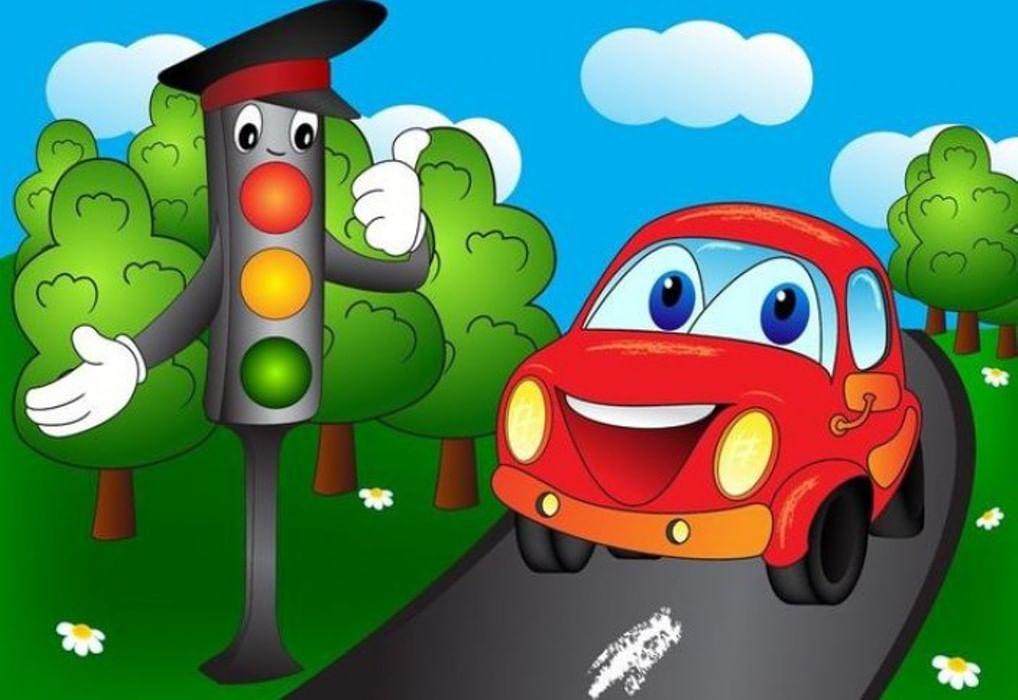 Картинки ребенок и светофор