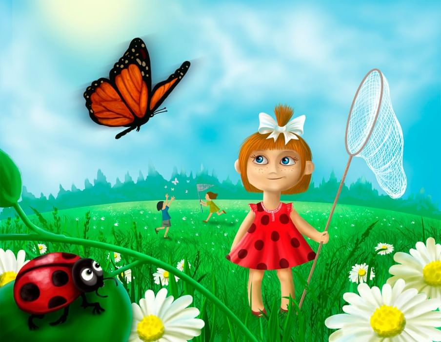 Рисунок дети и лето