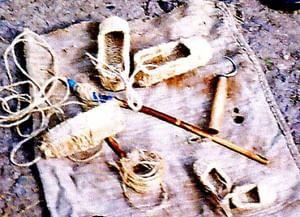 Технология изготовления веревочных лаптей в селе Саморядово Большесолдатского района Курской области