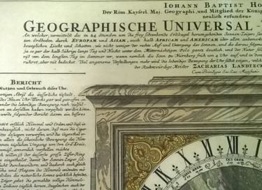 Выставка «Гравюра «Географические универсальные часы»