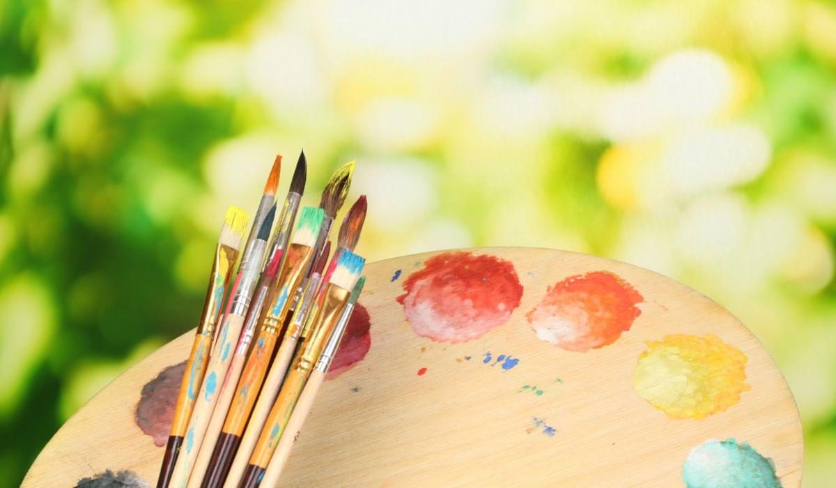 кисточки и краски картинки для презентации украсит