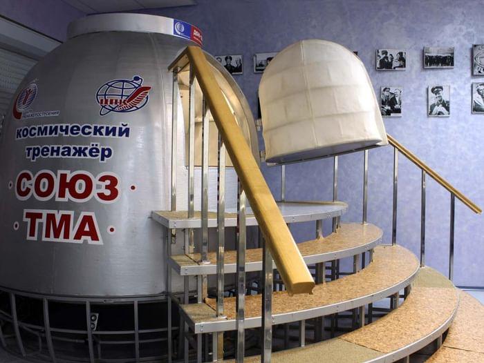 Сеанс отработки навыков на космическом тренажёре