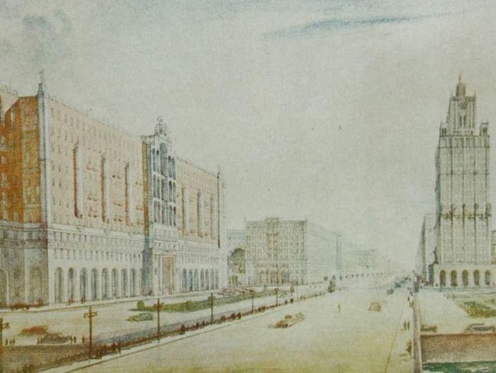 Выставка «Высотные здания Москвы (1947–1955 гг.)»