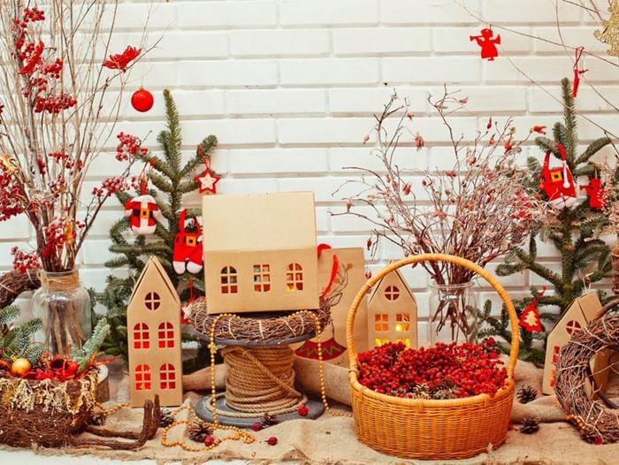 Мастер-класс «Новогодний интерьерный домик»