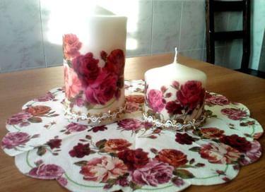 Мастер-класс «Декупаж праздничной свечи»