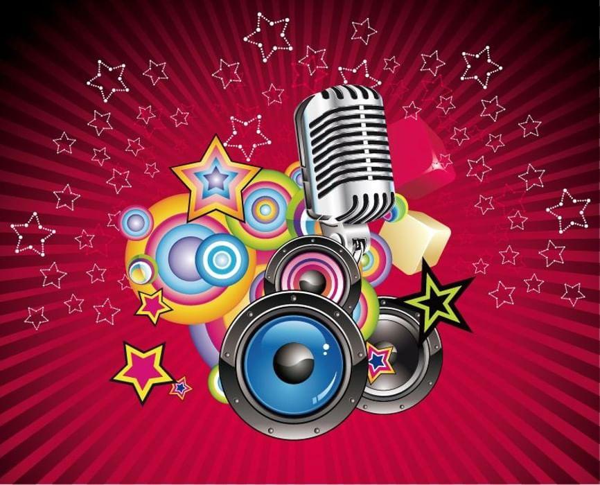 Микрофон открытки