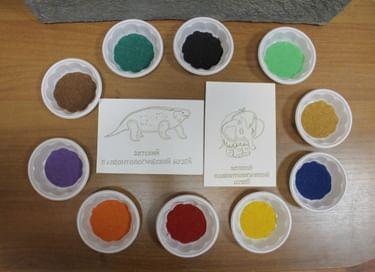 Мастер-класс «Рисование цветным песком»