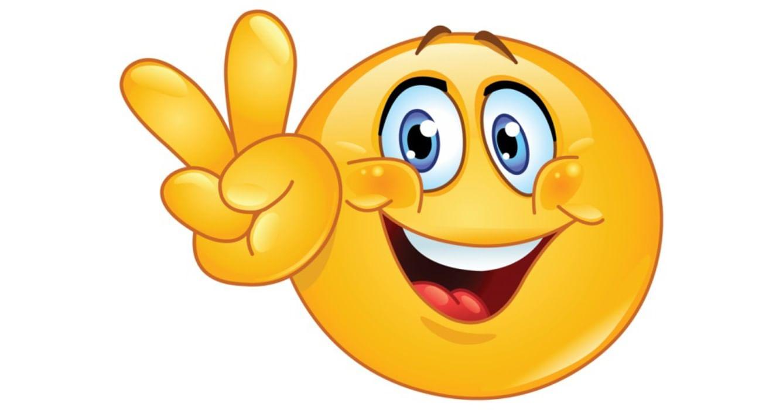 Смайлики улыбаются открытка