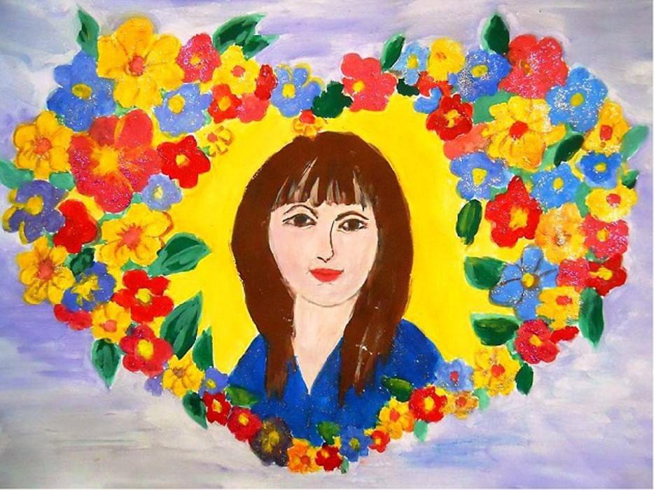 Открытка день матери в школе, новым годом россия