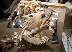 Традиционное изготовление щепной птицы в Архангельской области