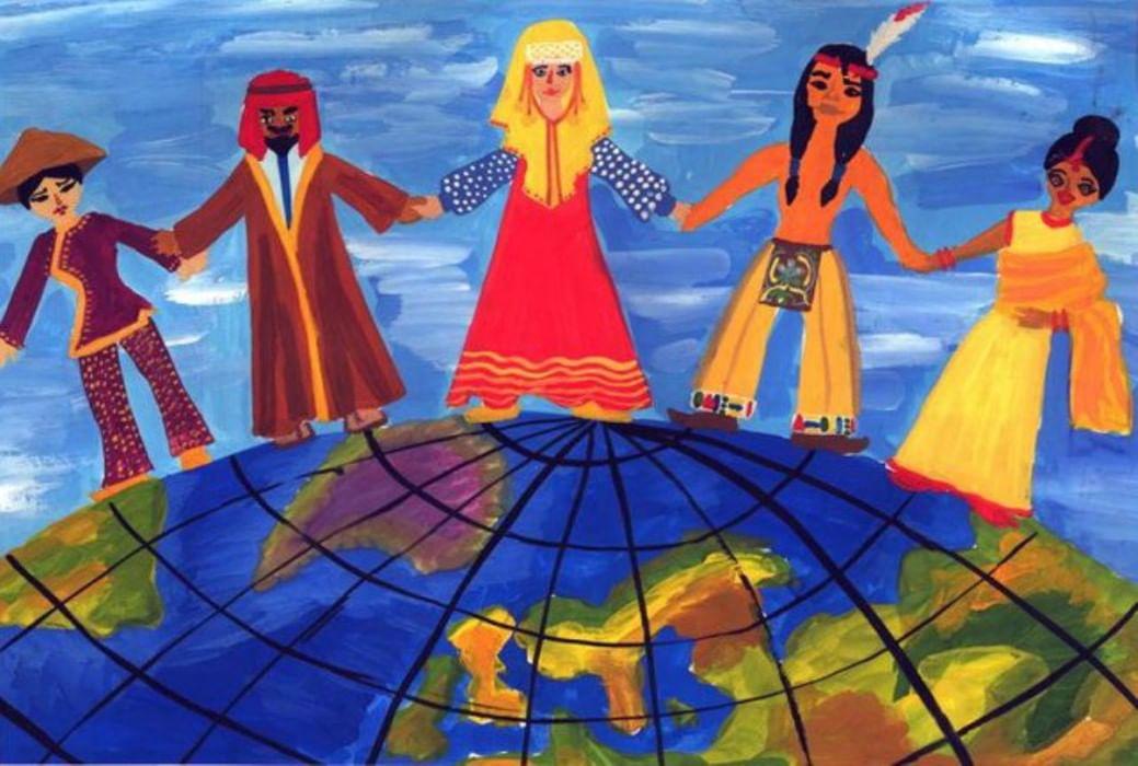 Дружба народов картинки для детей рисовать