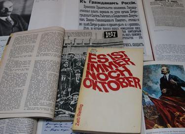 Книжно-иллюстративная выставка «Русская революция 1917 года»