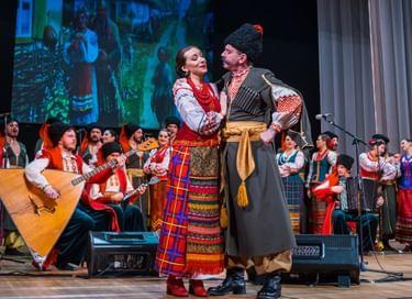 Концерт Кубанского казачьего хора в Воскресенске