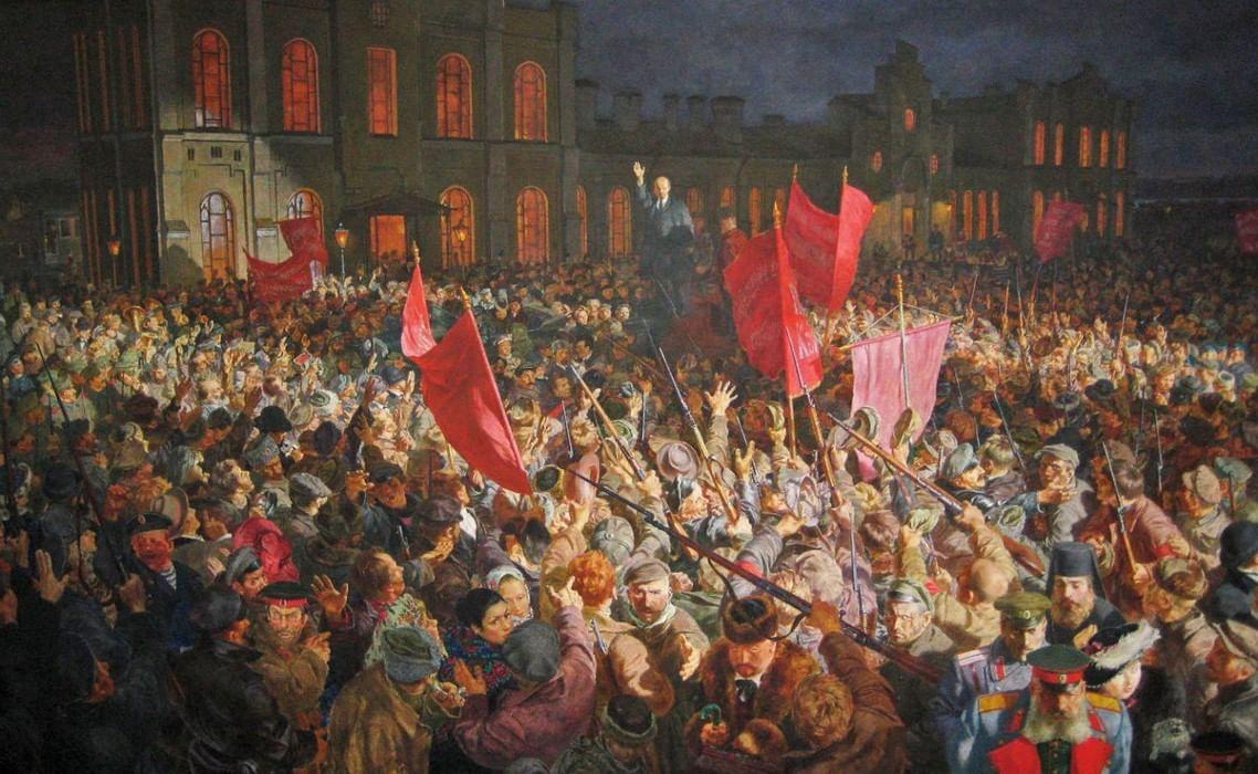 Революционные картинки 1917 года, открытки для