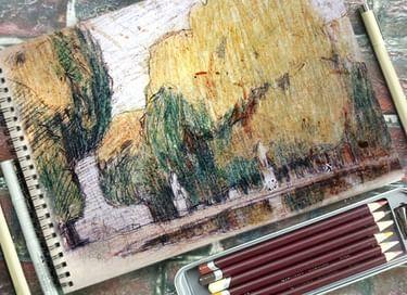 Передвижная выставка «Бывают крылья у художников»