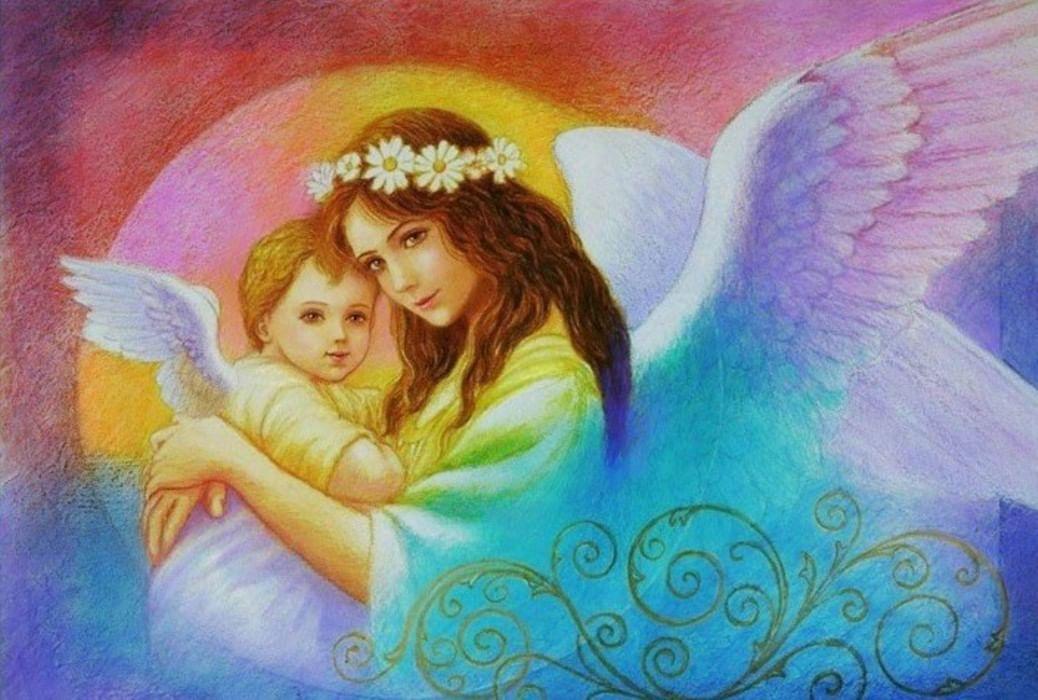 Красивую открытку, ангел для мамы картинки анимашки