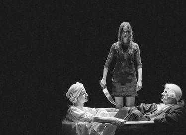 Спектакль «Убийство Жан-Поля Марата, представленное труппой психиатрической лечебницы под руководством господина де Сада»