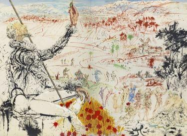 Выставка «Атака Дон Кихотов. Дали. Литографии. Зверев. Живопись. Графика»