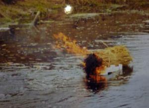 Обряд «куль соломы» в селе Любовшо Красногорского района Брянской области