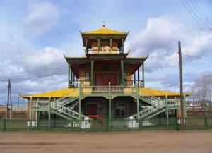 Анинский дацан «Дэчен Лхундублинг» в селе Алан, Республики Бурятии