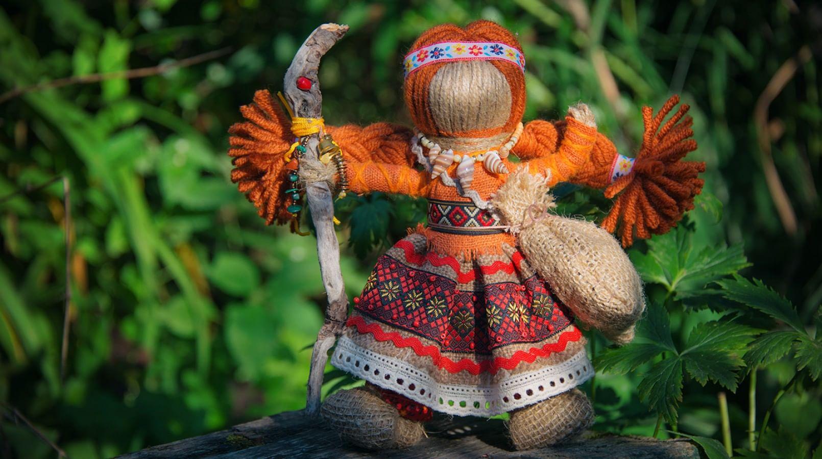 Кукла оберег из ниток мастер класс в русском стиле