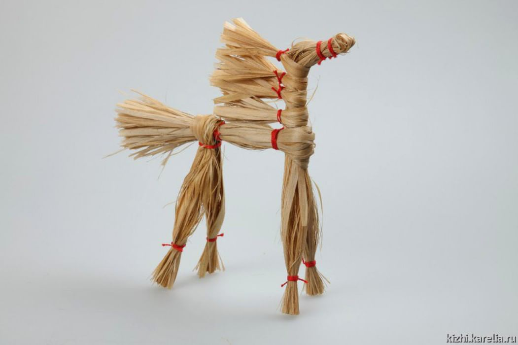 Лошадь из мочала мастер класс