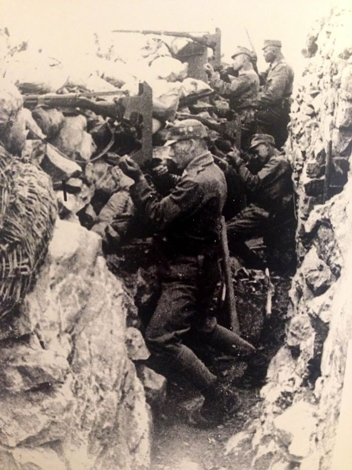 Archive photos from the Battles of the Isonzo (a river in Slovenia and Italy) and Julian Alps