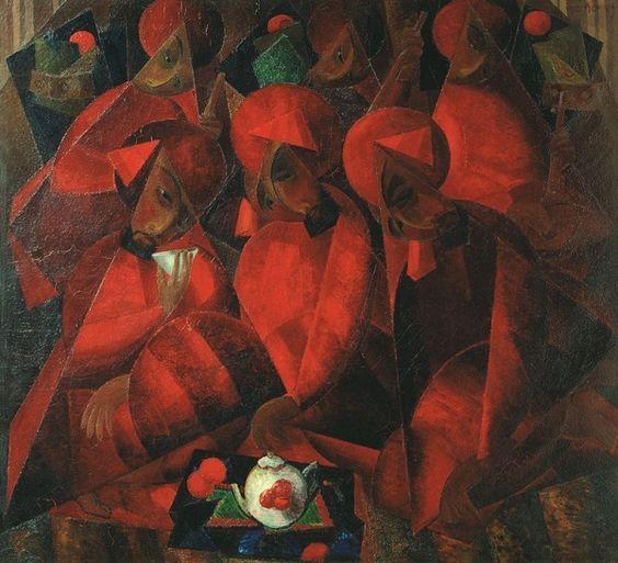 А. Волков. Гранатовая чайхана. 1924. ГТГ