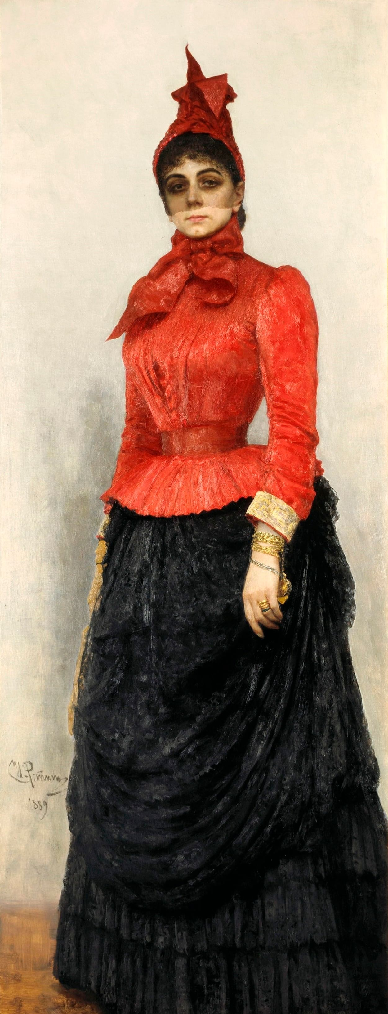 И. Репин. Дама в красном платье (Портрет В.И. Икскуль фон Гильденбанд). 1889. ГТГ