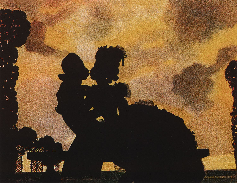 К. Сомов. Поцелуй (Силуэт). 1906. ГРМ