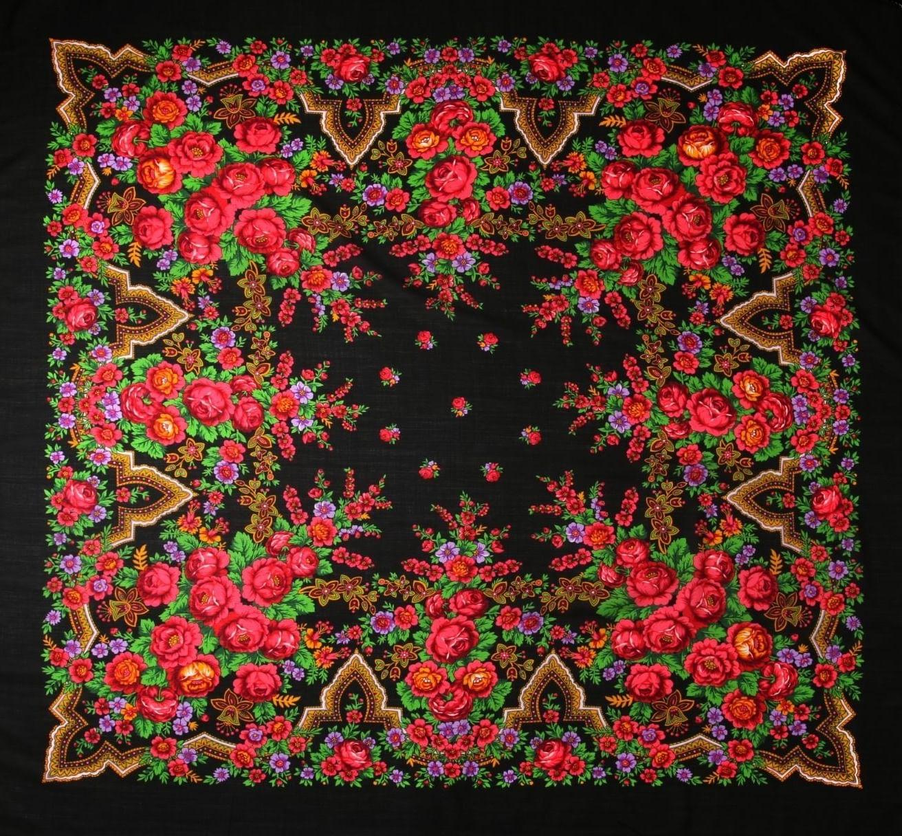Традиционный сюжет павловопосадских платков