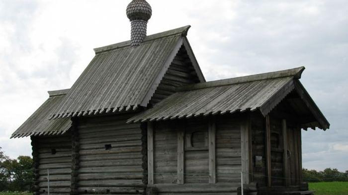 Храм Лазаря Праведного Воскрешения из Муромского монастыря в Медвежьегорском районе Карелии