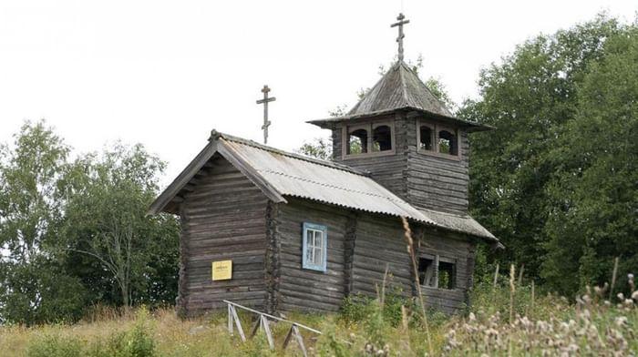 Часовня Георгия Победоносца в селе Вешкелица Суоярвского района в Карелии
