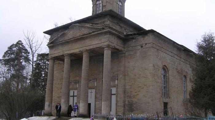 Храм святой Екатерины в деревне Петрово в Гатчине