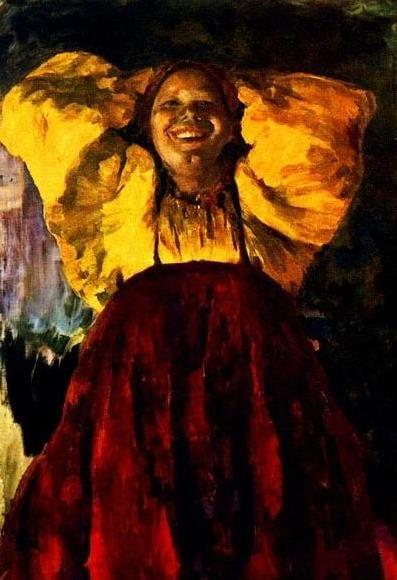 Филипп Малявин. Баба в желтом. 1903