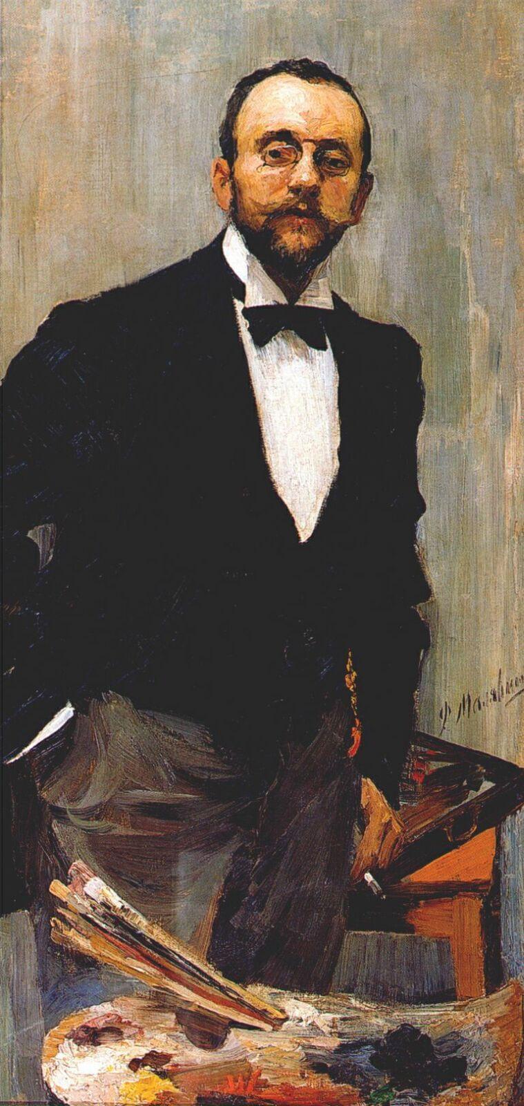 Филипп Малявин. Портрет художника Игоря Грабаря. 1895