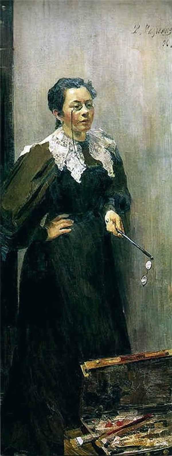 Филипп Малявин. Портрет художницы Анна Остроумовой-Лебедевой. 1896