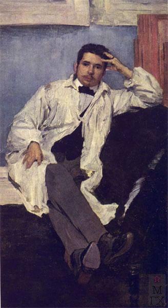 Филипп Малявин. Портрет художника Константина Сомова. 1895