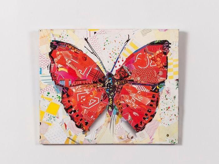 Мастер-класс «Бабочка из журналов»
