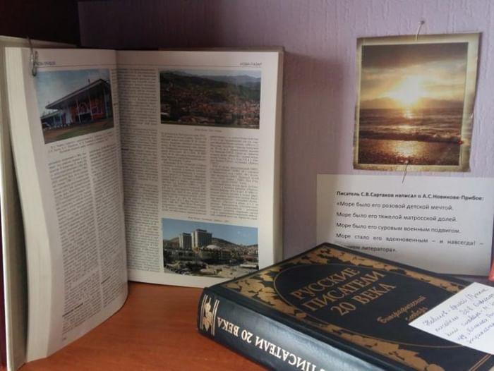 Книжная выставка «Писатель-маринист»