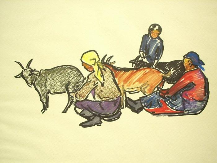 Выставка «Путевые зарисовки. Даши-Нима Дугаров»